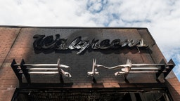 A view outside a burned Walgreens store on May 30, 2020 in Minneapolis, Minnesota. Buildings and businesses around the Twin Cities have been looted and destroyed in the fallout after the death of George Floyd while in police custody.