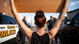 Duluth police protester