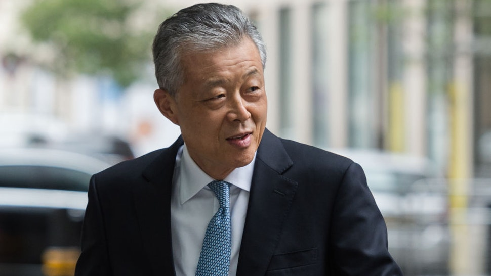 Liu Xiaoming, Chinese ambassador to the UK, arrives at the BBC Broadcasting House in central London to appear on The Andrew Marr Show on 19 July 2020 in London, England.