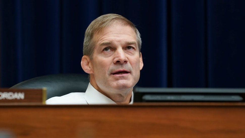 Rep. Jim Jordan (R-OH) listens during a House Select Subcommittee on the Coronavirus Crisis hearing on September 23, 2020 in Washington, DC.