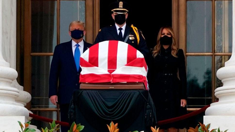 Trump Ginsburg casket