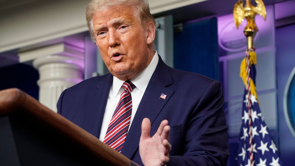 U.S. President Donald Trump speaks during a news conference in the Briefing Room of the White House on September 27, 2020 in Washington, DC.