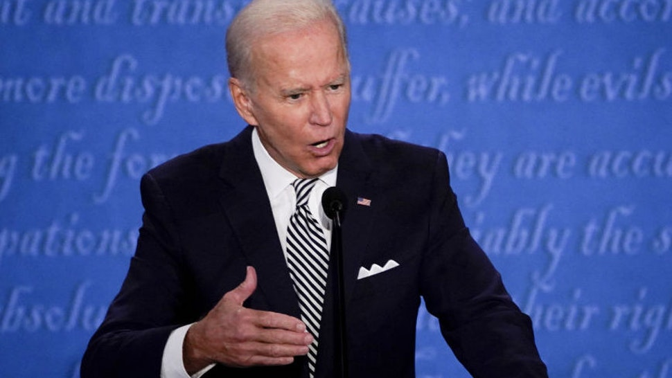 Joe Biden, 2020 Democratic presidential nominee, speaks during the first U.S. presidential debate hosted by Case Western Reserve University and the Cleveland Clinic in Cleveland, Ohio, U.S., on Tuesday, Sept. 29, 2020.