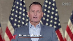 In this screenshot from the RNC's livestream of the 2020 Republican National Convention, Former Acting Director of National Intelligence and current Republican National Committee senior advisor Richard Grenell addresses the virtual convention on August 26, 2020. The convention is being held virtually due to the coronavirus pandemic but will include speeches from various locations including Charlotte, North Carolina and Washington, DC.