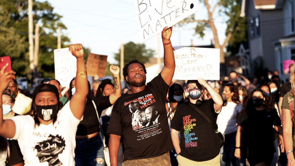 People march while calling for justice for Daniel Prude on September 03, 2020 in Rochester, New York.