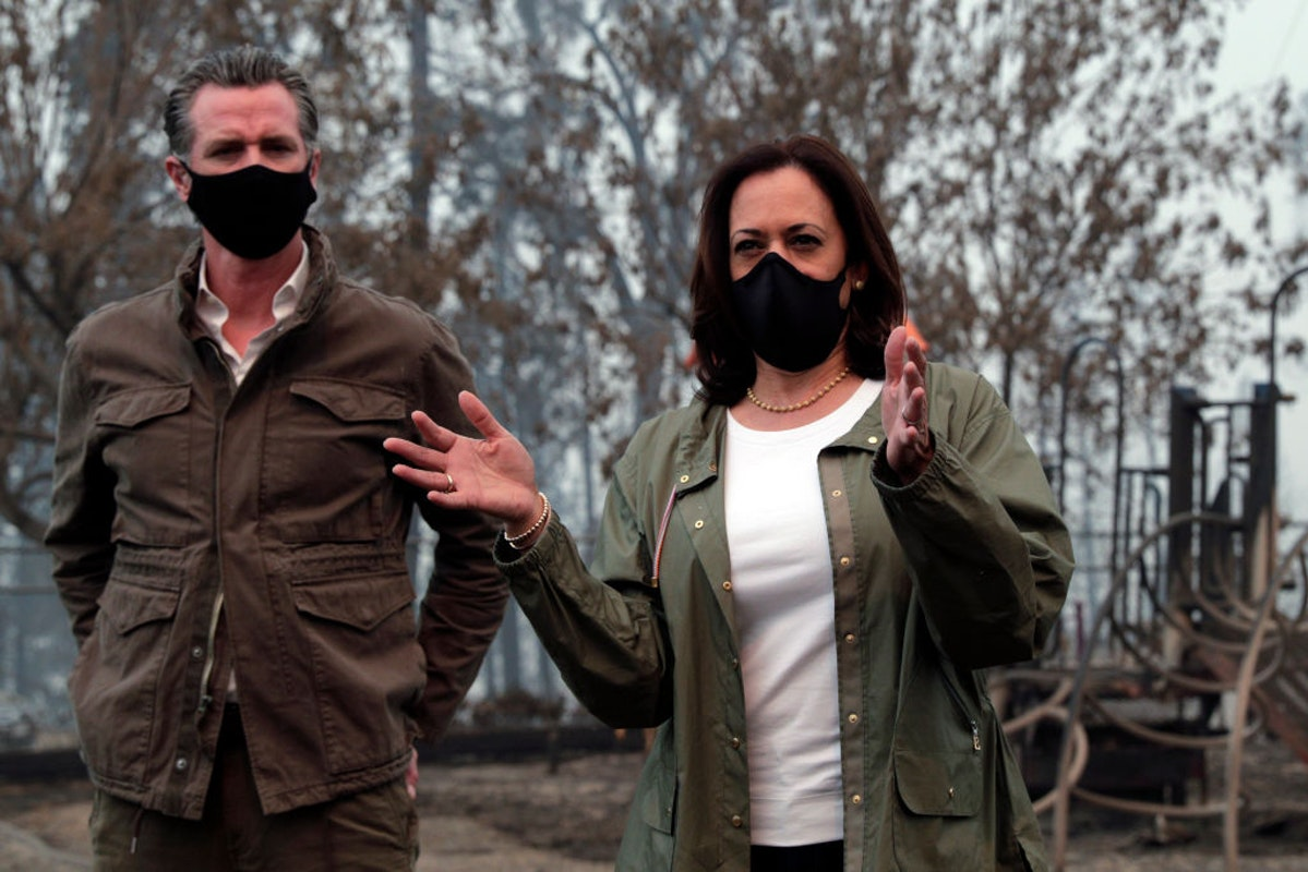 Kamala, Newsom Take Photo-Op Where CA Home Burned Up. Owner's Family Blasts: We Can't Even Go There. You're Trespassing.