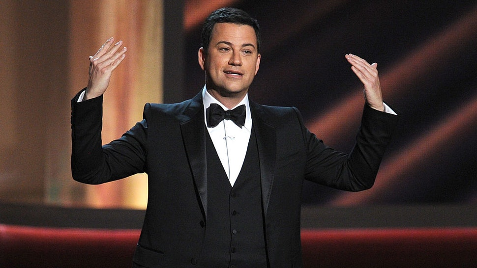 OS ANGELES, CA - SEPTEMBER 23: Host Jimmy Kimmel speaks onstage during the 64th Annual Primetime Emmy Awards at Nokia Theatre L.A. Live on September 23, 2012 in Los Angeles, California. (Photo by Kevin Winter/Getty Images)