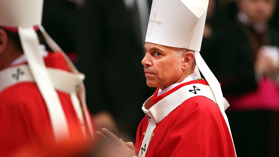 VATICAN CITY, VATICAN - JUNE 29: Archbishop of San Francisco Salvatore Joseph Cordileone attends the mass and imposition of the Pallium upon the new metropolitan archbishops held by Pope Francis for the Solemnity of Saint Peter and Paul at Vatican Basilica on June 29, 2013 in Vatican City, Vatican. Pope Francis delivered the homily at Mass in St Peter's Basilica on Saturday morning, to mark the Solemnity of Saints Peter and Paul, Apostles and Patrons fo the city of Rome. In his remarks following the Gospel reading, the Holy Father focused on a particular task of the Petrine ministry, which is to strengthen, or confirm, all the faithful. (Photo by Franco Origlia/Getty Images)