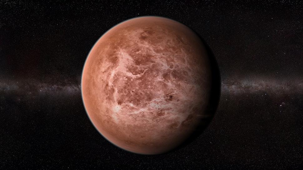 Venus, computer artwork.