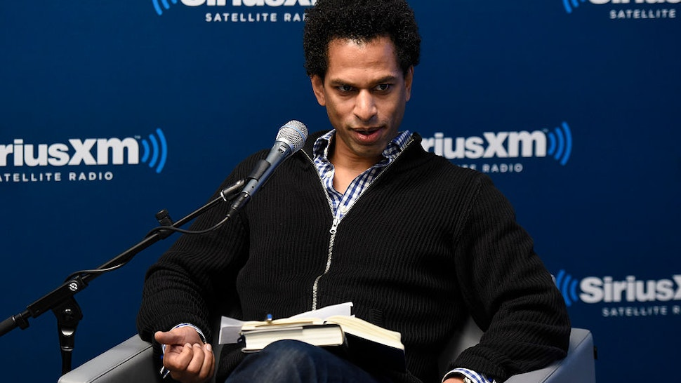 Toure takes part in SiriusXM's 'Town Hall' with L.A. Reid at the SiriusXM Studios on February 1, 2016 in New York City.
