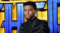 "ONDON, ENGLAND - FEBRUARY 08: Chadwick Boseman attends the European Premiere of Marvel Studios' ""Black Panther"" at the Eventim Apollo, Hammersmith on February 8, 2018 in London, England. (Photo by Gareth Cattermole/Getty Images for Disney)"