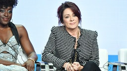 BEVERLY HILLS, CA - AUGUST 01: Ito Aghayere and Patricia Heaton of Carol's Second Act speak during the CBS segment of the 2019 Summer TCA Press Tour at The Beverly Hilton Hotel on August 1, 2019 in Beverly Hills, California.