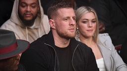HOUSTON, TEXAS - FEBRUARY 08: NFL player J.J. Watt is seen in attendance during the UFC 247 event at Toyota Center on February 08, 2020 in Houston, Texas.