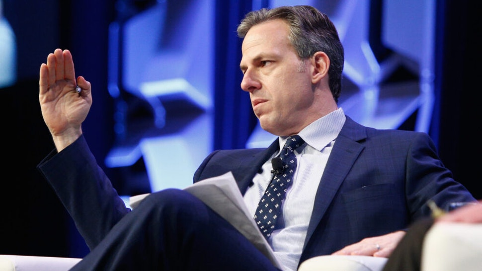 AUSTIN, TX - MARCH 09: CNN's Jake Tapper speaks onstage at CNN's Jake Tapper in conversation with Bernie Sanders during SXSW at Austin Convention Center on March 9, 2018 in Austin, Texas.