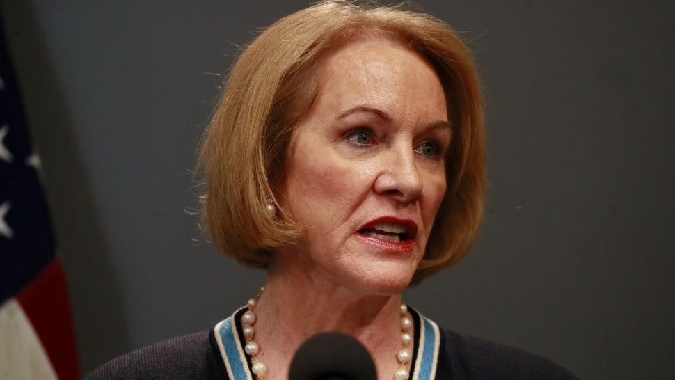 SEATTLE, WASHINGTON - MARCH 16: Seattle Mayor Jenny Durkan talks at a press conference about the coronavirus outbreak March 16, 2020 in Seattle, Washington. Gov. Jay Inslee ordered all bars, restaurants, entertainment and recreation facilities to temporarily close to fight the spread of COVID-19 in the state with by far the most deaths in the U.S. from the disease. (Photo by Erika Schultz-Pool/Getty Images)