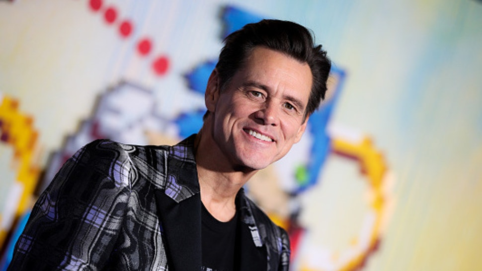 """Jim Carrey attends the LA special screening of Paramount's """"Sonic The Hedgehog"""" at Regency Village Theatre on February 12, 2020 in Westwood, California. (Photo by Rich Fury/WireImage via Getty Images)"""