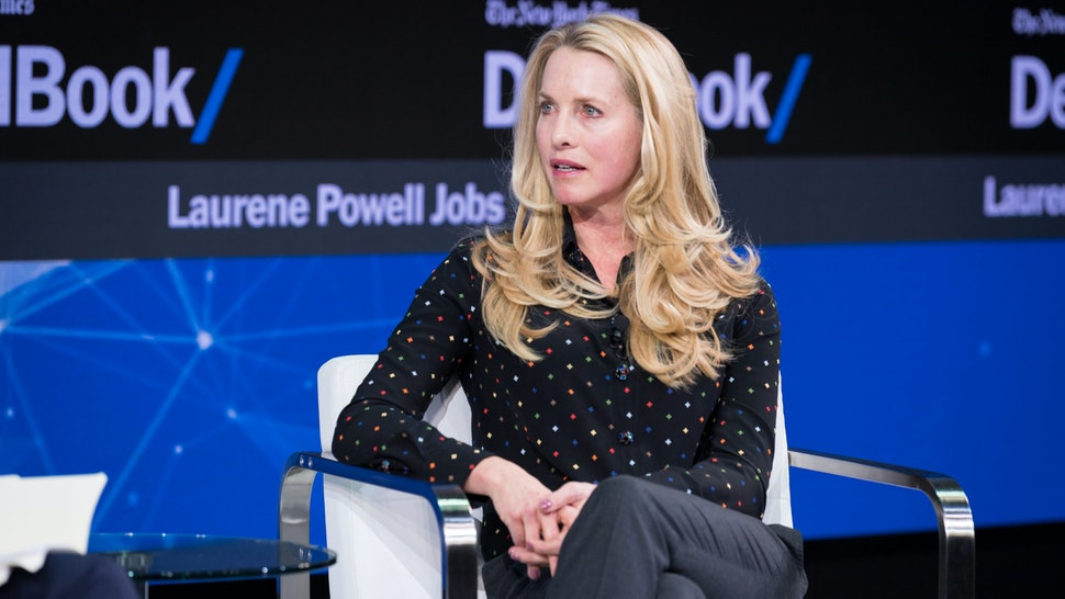 NEW YORK, NY - NOVEMBER 09: Laurene Powell Jobs speaks onstage during The New York Times 2017 DealBook Conference at Jazz at Lincoln Center on November 9, 2017 in New York City.