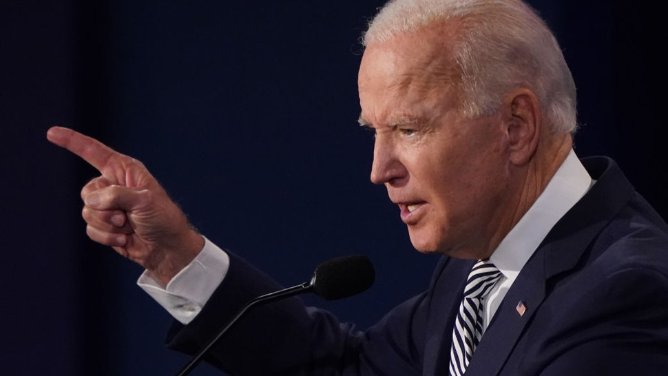 Joe Biden, 2020 Democratic presidential nominee, speaks during the first U.S. presidential debate hosted by Case Western Reserve University and the Cleveland Clinic in Cleveland, Ohio, U.S., on Tuesday, Sept. 29, 2020. Trump and Biden kick off their first debate with contentious topics like the Supreme Court and the coronavirus pandemic suddenly joined by yet another potentially explosive question -- whether the president ducked paying his taxes. Photographer: Kevin Dietsch/UPI/Bloomberg