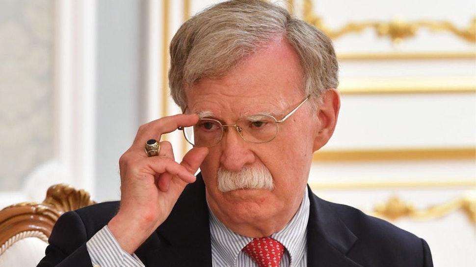 MINSK, BELARUS - AUGUST 29, 2019: US National Security Advisor John Bolton during a meeting with Belarus' President Alexander Lukashenko. Yuri Oreshkin/BelTA/TASS (Photo by Yuri OreshkinTASS via Getty Images)