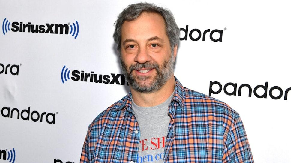 NEW YORK, NEW YORK - NOVEMBER 12: (EXCLUSIVE COVERAGE) Filmmaker Judd Apatow visits SiriusXM Studios on November 12, 2019 in New York City.