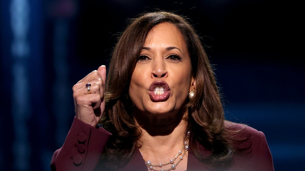 WILMINGTON, DELAWARE - AUGUST 19: Democratic vice presidential nominee U.S. Sen. Kamala Harris (D-CA) speaks on the third night of the Democratic National Convention from the Chase Center August 19, 2020 in Wilmington, Delaware. The convention, which was once expected to draw 50,000 people to Milwaukee, Wisconsin, is now taking place virtually due to the coronavirus pandemic. Harris is the first African-American, first Asian-American, and third female vice presidential candidate on a major party ticket.