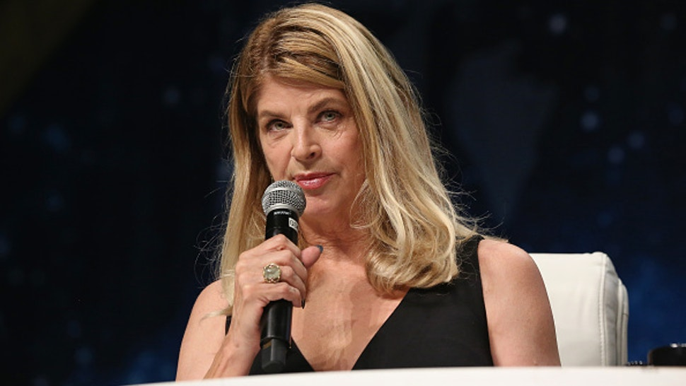 LAS VEGAS, NV - AUGUST 05: Actress Kirstie Alley speaks during the 15th annual official Star Trek convention at the Rio Hotel & Casino on August 5, 2016 in Las Vegas, Nevada.