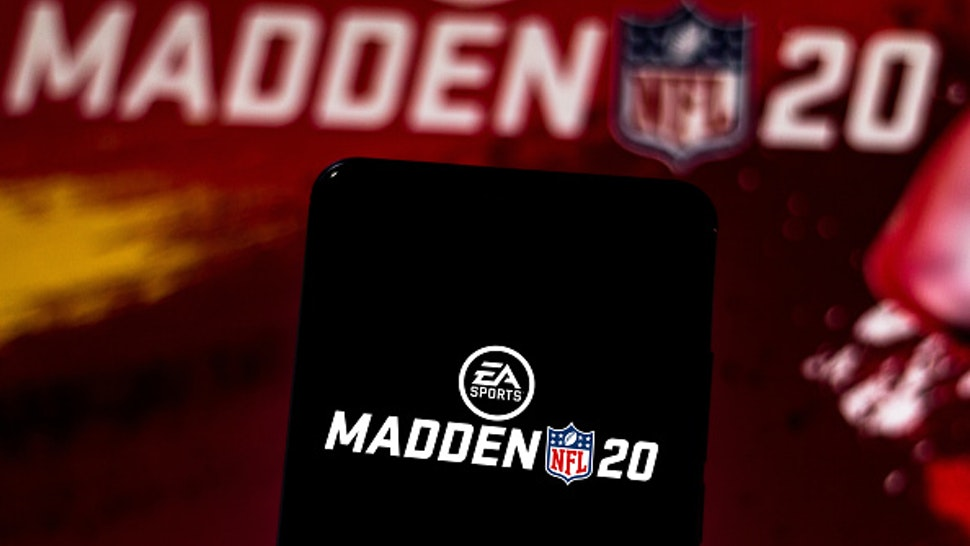 BRAZIL - 2019/06/12: In this photo illustration the Madden NFL 20 logo is displayed on a smartphone.