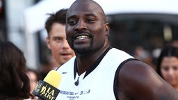 LOS ANGELES, CA - AUGUST 07: Ex NFL player Marcellus Wiley attends the ESPNLA All Star Celebrity Basketball Game Kick Off to the 2015 Nike Basketball 3ON3 Tournament Presented By NBC4 Southern California at L.A. LIVE on August 7, 2015 in Los Angeles, California.