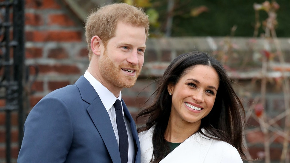 LONDON, ENGLAND - NOVEMBER 27: Prince Harry and actress Meghan Markle during an official photocall to announce their engagement at The Sunken Gardens at Kensington Palace on November 27, 2017 in London, England. Prince Harry and Meghan Markle have been a couple officially since November 2016 and are due to marry in Spring 2018.