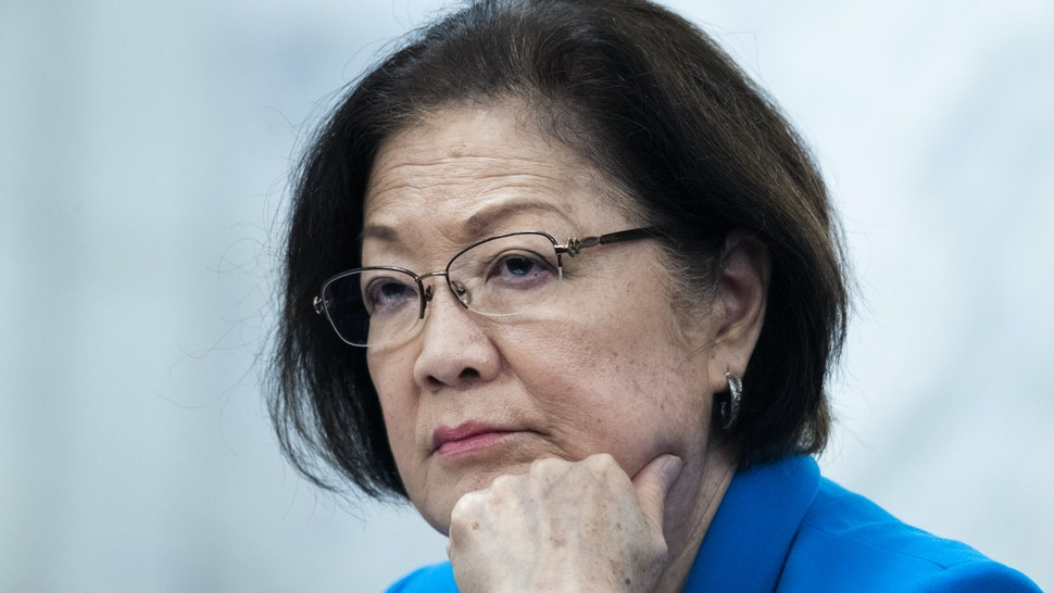 UNITED STATES - JULY 30: Sen. Mazie Hirono, D-Hawaii, attends the Senate Judiciary Committee markup on the Civil Justice for Victims of COVID Act, and judicial nominations in Russell Building on Thursday, July 30, 2020.