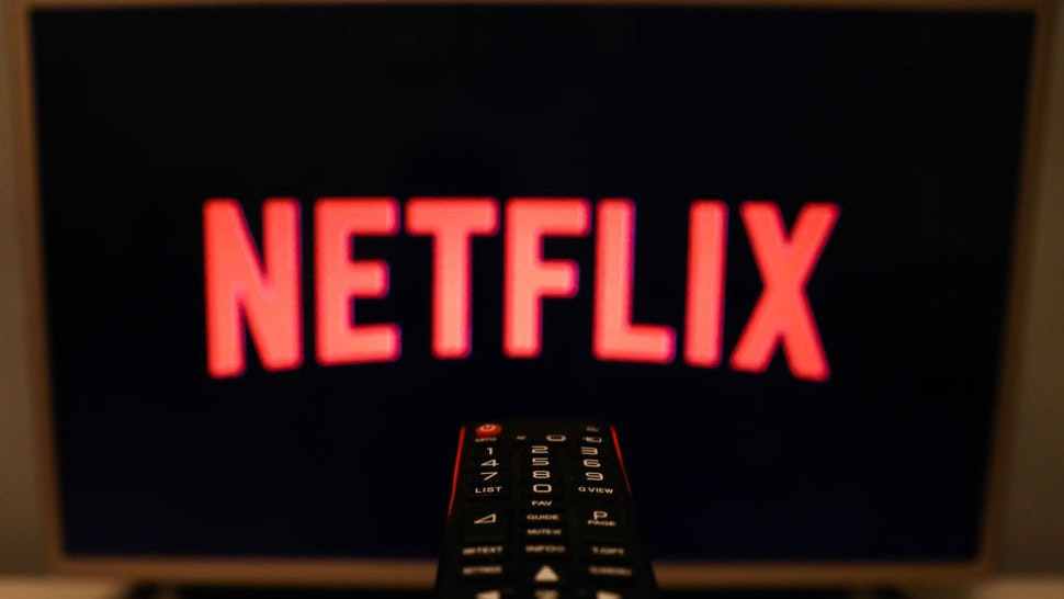 Netflix logo is seen displayed on TV screen in this illustration photo taken in Poland on July 16, 2020. On-Demand streaming services gained popularity and new subscribers during the coronavirus pandemic. (Photo Illustration by Jakub Porzycki/NurPhoto via Getty Images)