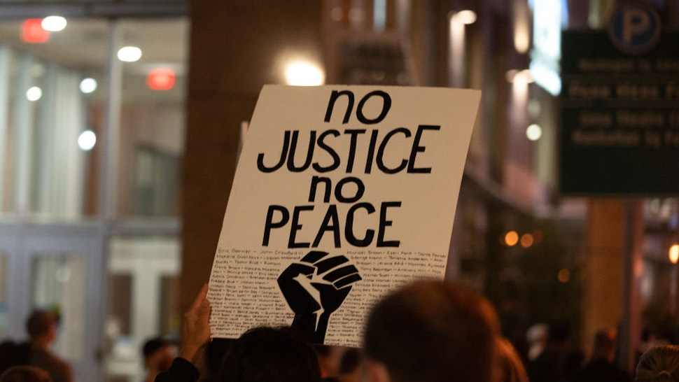 Protests in Rochester, NY over the death of Daniel Prude continue, with thousands in the street and more police violence, September, 5th, 2020. (Photo by Zach D Roberts/NurPhoto via Getty Images)