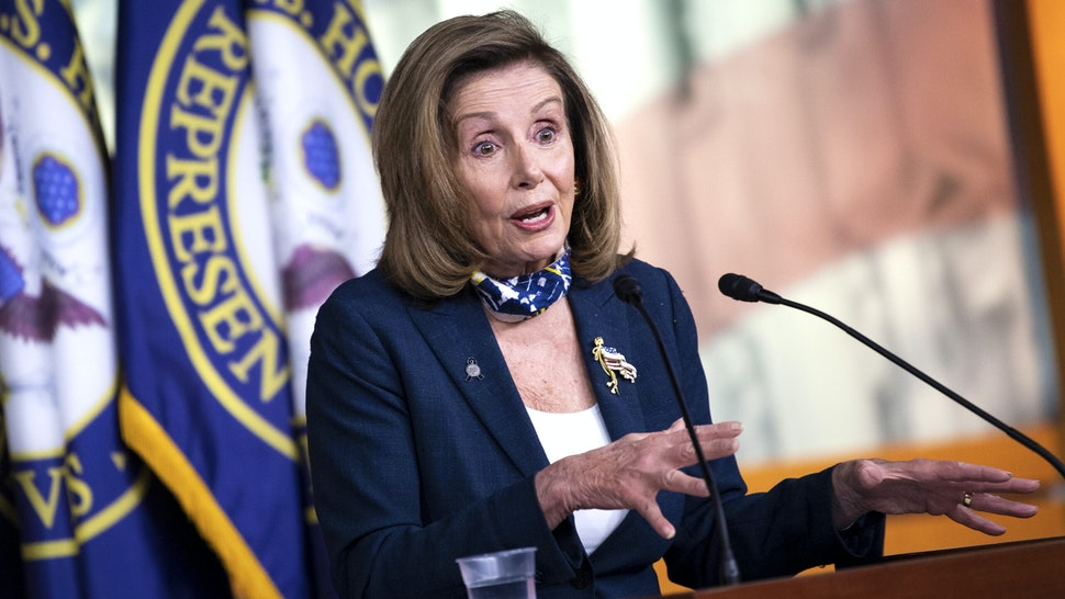UNITED STATES - SEPTEMBER 10: Speaker of the House Nancy Pelosi, D-Calif., speaks during her weekly news conference in the Capitol on Thursday, Sept. 10, 2020.
