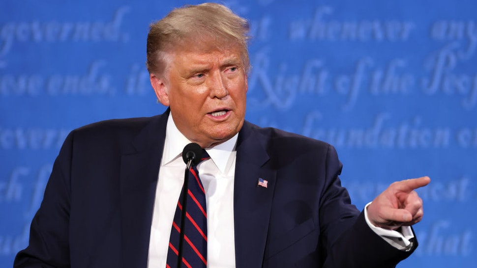 CLEVELAND, OHIO - SEPTEMBER 29: U.S. President Donald Trump participates in the first presidential debate against Democratic presidential nominee Joe Biden at the Health Education Campus of Case Western Reserve University on September 29, 2020 in Cleveland, Ohio. This is the first of three planned debates between the two candidates in the lead up to the election on November 3. (Photo by Win McNamee/Getty Images)