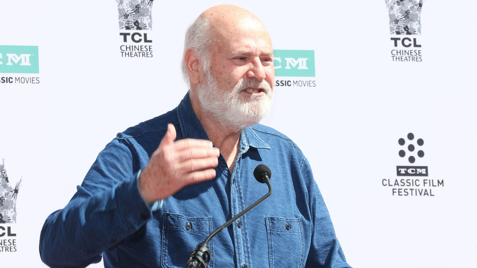 HOLLYWOOD, CALIFORNIA - APRIL 12: Comedian Rob Reiner speaks at a ceremony honoring Billy Crystal (out of frame) at TCL Chinese Theatre IMAX on April 12, 2019 in Hollywood, California.