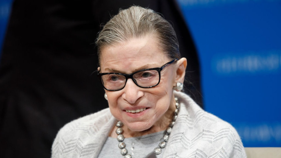 WASHINGTON, DC - SEPTEMBER 12: Supreme Court Justice Ruth Bader Ginsburg delivers remarks at the Georgetown Law Center on September 12, 2019, in Washington, DC. Ginsburg, 86, spoke to over 300 attendees about the Supreme Court's previous term. (Photo by Tom Brenner/Getty Images) *** Local Caption *** Ruth Bader Ginsburg