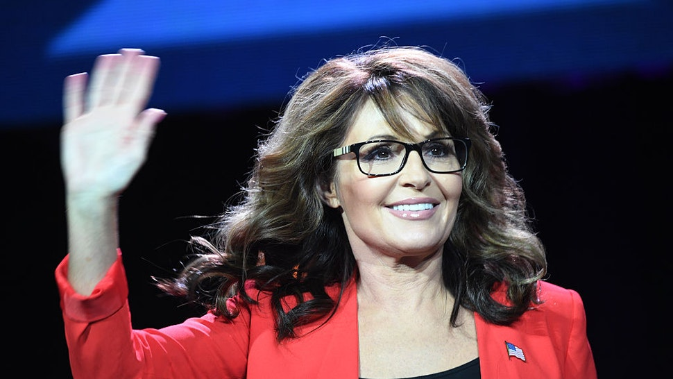 DENVER, CO - JULY 01 Former GOP vice presidential candidate Sarah Palin speaks during the 2016 Western Conservative the Colorado Convention Center in Denver, July 01, 2016. It is the 7th annual Western Conservative Summit. (Photo by RJ Sangosti/The Denver Post via Getty Images)