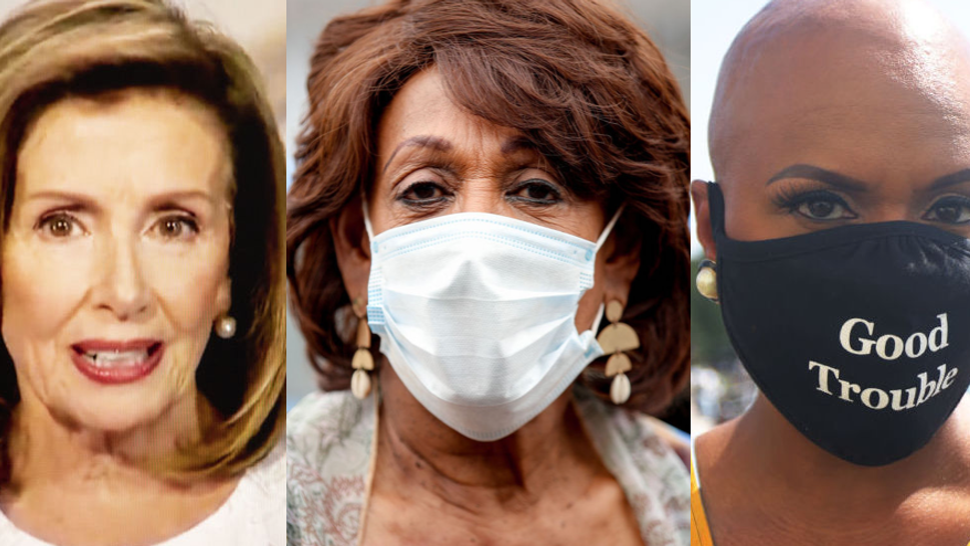 Nancy Pelosi, Maxine Waters, Ayanna Pressley