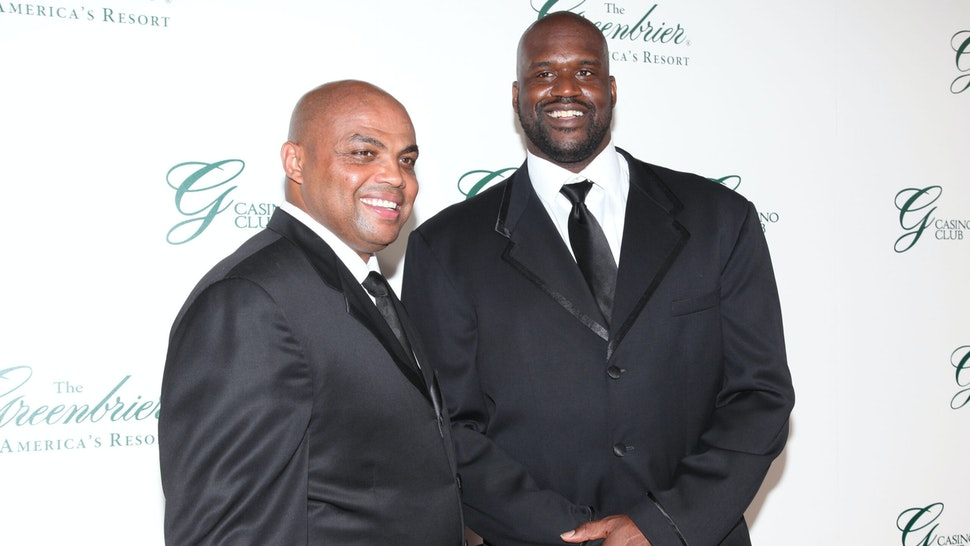 WHITE SULPHUR SPRINGS, WEST VIRGINIA - JULY 2: Charles Barkley and Shaquille O'Neal attend The Greenbrier Gala for the Opening of the Casino Club at The Greenbrier on July 2, 2010 in White Sulphur Springs, West Virginia.