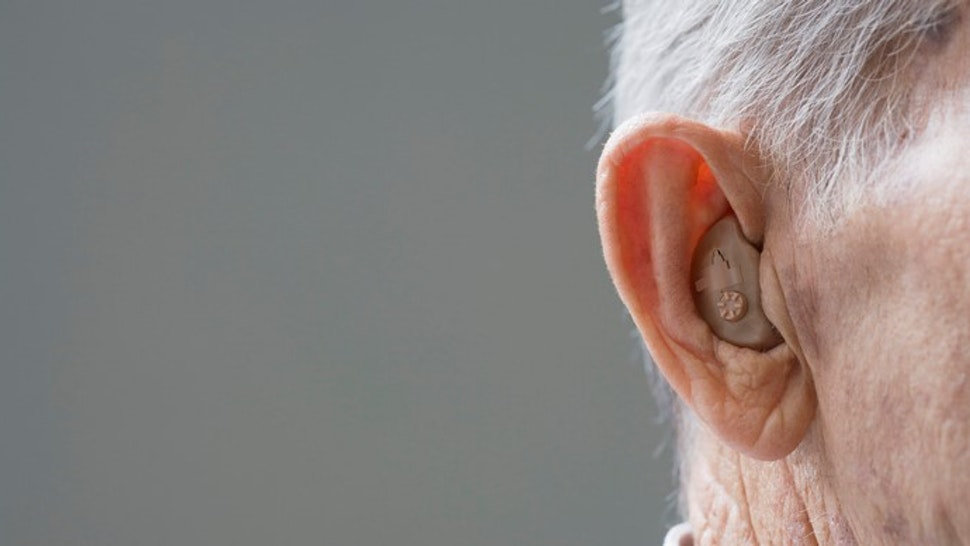 Close up of hearing aid