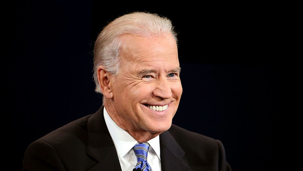 DANVILLE, KY - OCTOBER 11: U.S. Vice President Joe Biden smiles during the vice presidential debate at Centre College October 11, 2012 in Danville, Kentucky. This is the second of four debates during the presidential election season and the only debate between the vice presidential candidates before the closely-contested election November 6. (Photo by