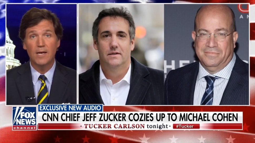 WATCH: Tucker Carlson Releases Stunning Audio Of CNN's Jeff Zucker And Michael Cohen; Hints More Coming On Chris Cuomo