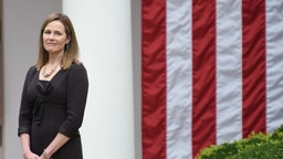 WASHINGTON, DC - SEPTEMBER 26: Amy Coney Barrett, U.S. President Donald Trump's nominee for associate justice of the U.S. Supreme Court, attends an announcement ceremony at the White House on September 26, 2020 in Washington, DC. (Photo by
