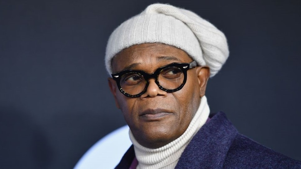 """Actor Samuel L. Jackson attends the premiere of Universal Pictures' """"Glass"""" at SVA Theatre on January 15, 2019 in New York City. (Photo by Angela Weiss / AFP) (Photo credit should read"""