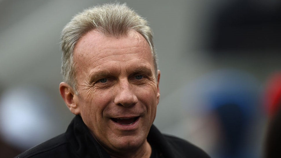 SANTA CLARA, CA - DECEMBER 20: Former San Francisco 49ers quarterback Joe Montana looks on from the sidelines during the NFL game between the San Francisco 49ers and the Cincinnati Bengals at Levi's Stadium on December 20, 2015 in Santa Clara, California. (Photo by