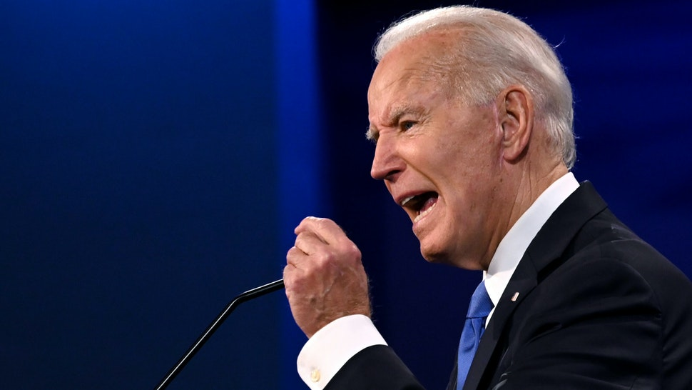Democratic Presidential candidate and former US Vice President Joe Biden gestures as he speaks during the final presidential debate at Belmont University in Nashville, Tennessee, on October 22, 2020.