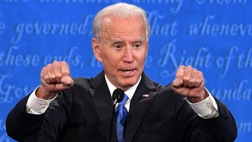 Joe Biden, 2020 Democratic presidential nominee, speaks during the U.S. presidential debate at Belmont University in Nashville, Tennessee, U.S., on Thursday, Oct. 22, 2020. Trump and Biden will square off for 90 minutes in their final debate, but the biggest risk for each candidate comes more from their own weaknesses and less from each other.