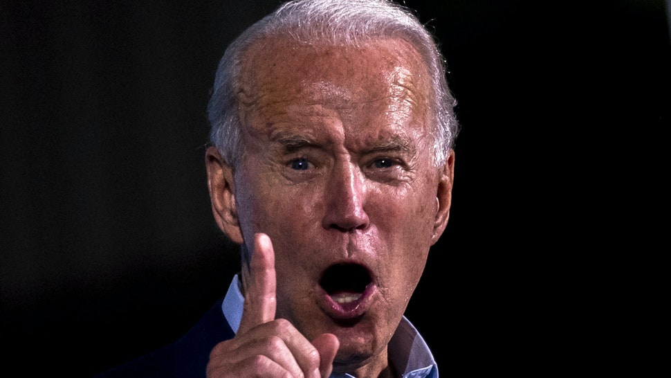 Former vice-president and Democratic presidential nominee Joe Biden delivers remarks during a Drive-In event in Tampa, Florida, on October 29, 2020.