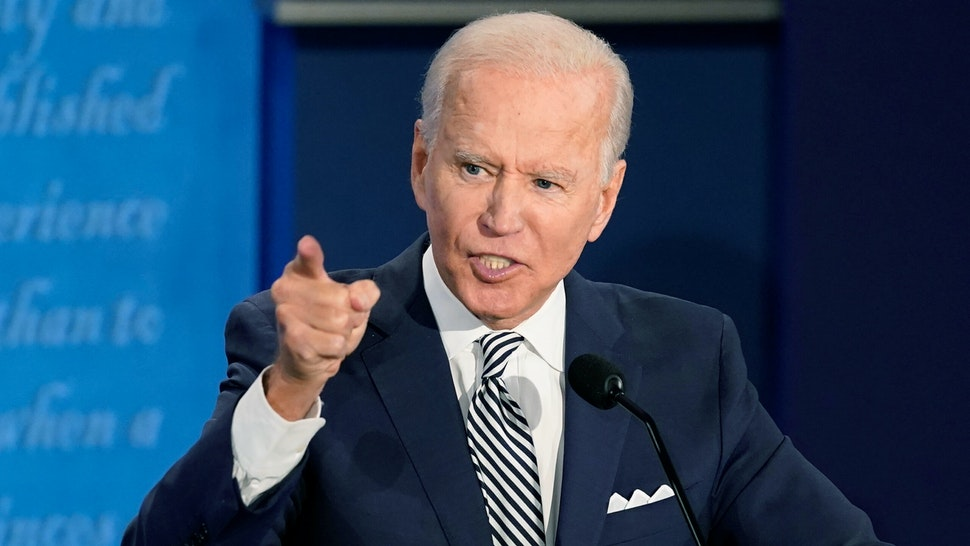 Joe Biden, 2020 Democratic presidential nominee, speaks during the first U.S. presidential debate hosted by Case Western Reserve University and the Cleveland Clinic in Cleveland, Ohio, U.S., on Tuesday, Sept. 29, 2020. Trump and Biden kick off their first debate with contentious topics like the Supreme Court and the coronavirus pandemic suddenly joined by yet another potentially explosive question -- whether the president ducked paying his taxes.