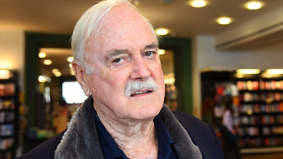 """LONDON, ENGLAND - SEPTEMBER 10: John Cleese during a book signing at Waterstones Piccadilly to promote his book """"Creativity: A Short and Cheerful Guide"""" on September 10, 2020 in London, England"""